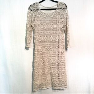 Cato Lace Dress with Attached Slip Size Large